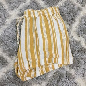 Yellow Striped shorts